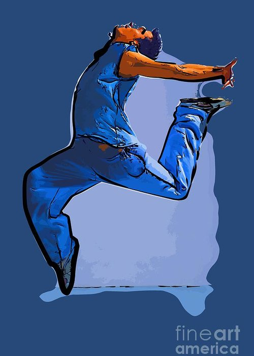 Dance Greeting Card featuring the digital art Dancer 59 by College Town