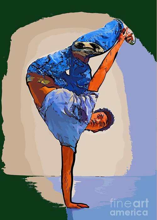 Dance Greeting Card featuring the digital art Dancer 61 by College Town
