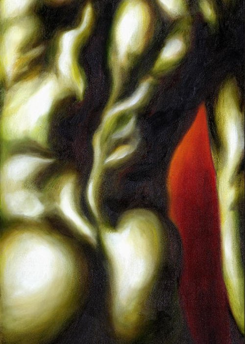 Man Nude Painting Greeting Card featuring the painting Dancer Two by Hiroko Sakai