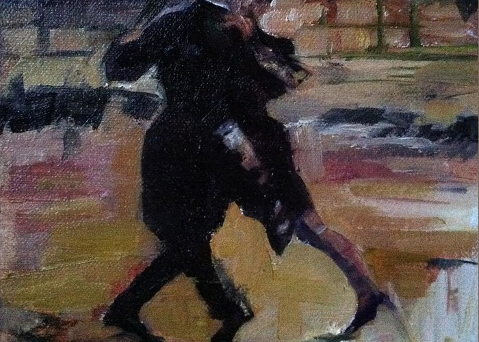 Tango Dancers Greeting Card featuring the painting Danct The Night Away by MaryAnne Ardito