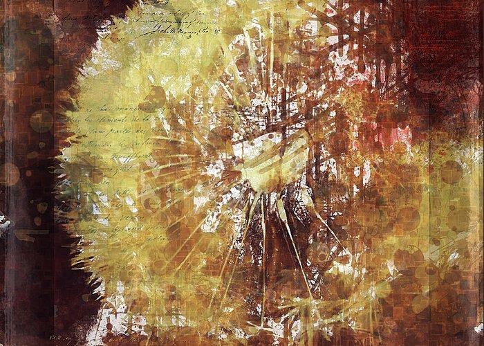 Simple Greeting Card featuring the digital art Dandelion Wild Life by Yury Malkov