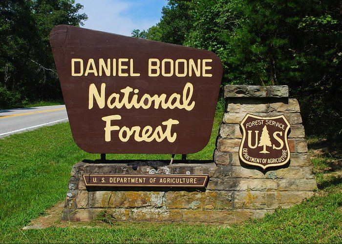 Daniel Boone Greeting Card featuring the photograph Daniel Boone by Frozen in Time Fine Art Photography