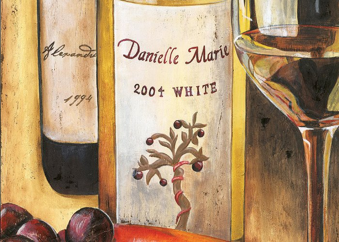 Red Grapes Greeting Card featuring the painting Danielle Marie 2004 by Debbie DeWitt