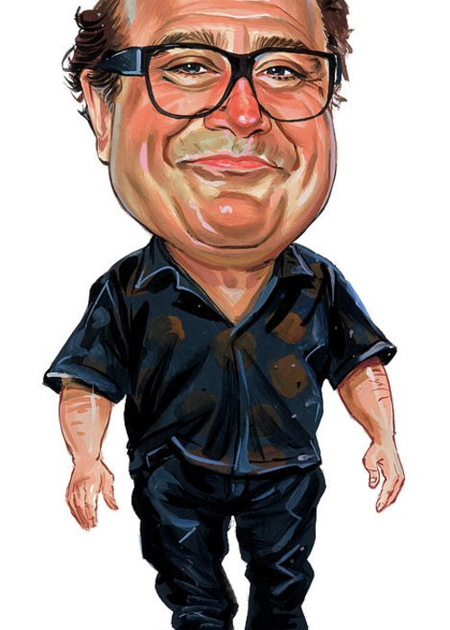 Danny Devito Greeting Card featuring the painting Danny Devito by Art