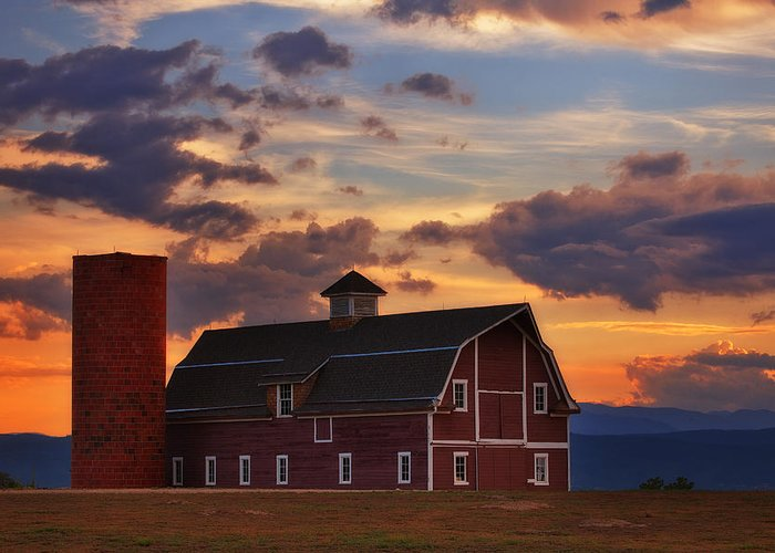 Barn Greeting Card featuring the photograph Danny's Barn by Darren White