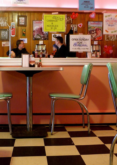 Diner Greeting Card featuring the photograph Dan's Diner by Pineapple XVI