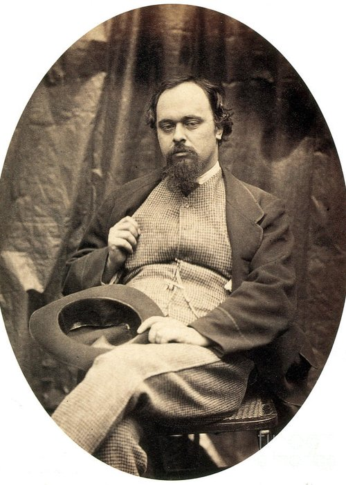 History Greeting Card featuring the photograph Dante Gabriel Rossetti English Poet by Photo Researchers