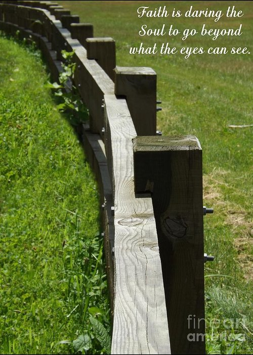 Fence Greeting Card featuring the photograph Daring The Soul by Sara Raber