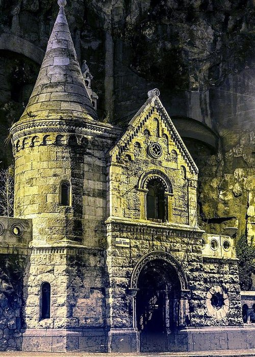 Castle Greeting Card featuring the photograph Dark Age by Imre Bedocs