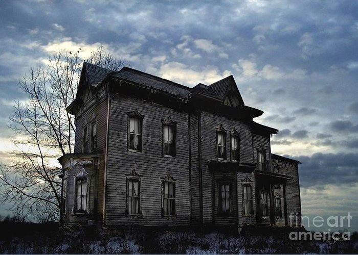 Old House Greeting Card featuring the digital art Dark Ruttle County by Tom Straub