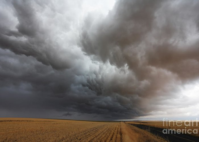 Dark Storm Clouds Greeting Card featuring the photograph Dark Storm Clouds by Boon Mee