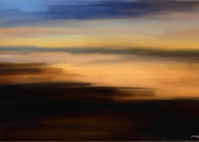 Seascapes Abstract Greeting Card featuring the digital art Darkness Dreams by Lourry Legarde