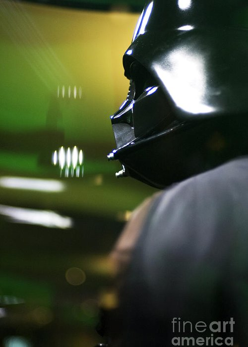 Star Wars Greeting Card featuring the photograph Darth Vader by Micah May