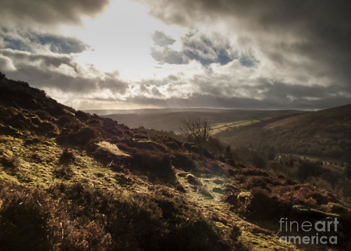 Barren Greeting Card featuring the photograph Dartmoor Drama by Jan Bickerton