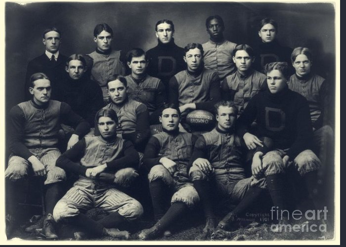 Dartmouth Greeting Card featuring the photograph Dartmouth Football Team 1901 by Edward Fielding