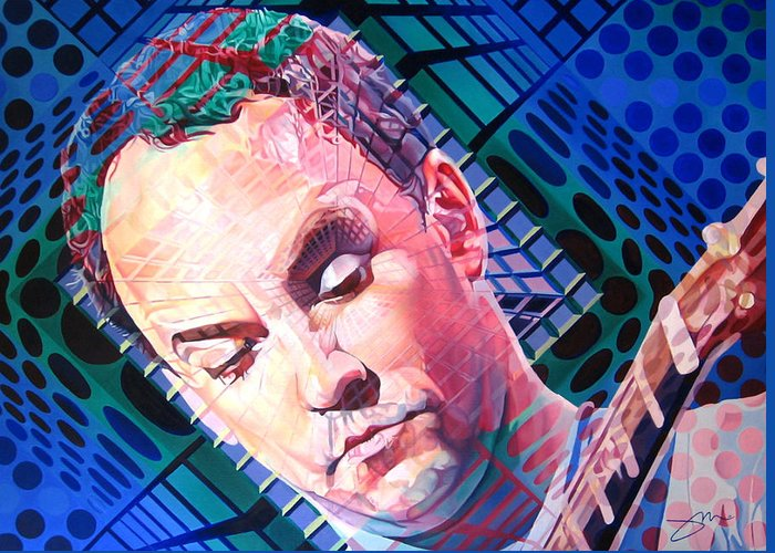 Dave Matthews Greeting Card featuring the painting Dave Matthews Open Up My Head by Joshua Morton