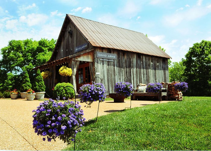 Barn Greeting Card featuring the photograph David Arms Gallery by Gary Prather