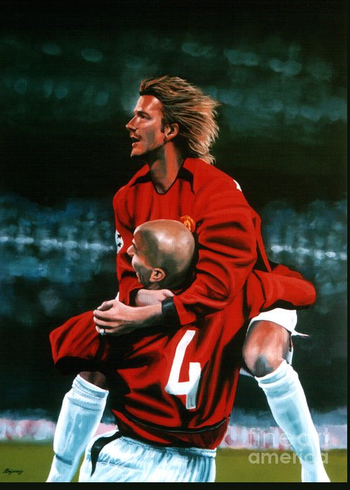 Soccer David Beckham Greeting Cards