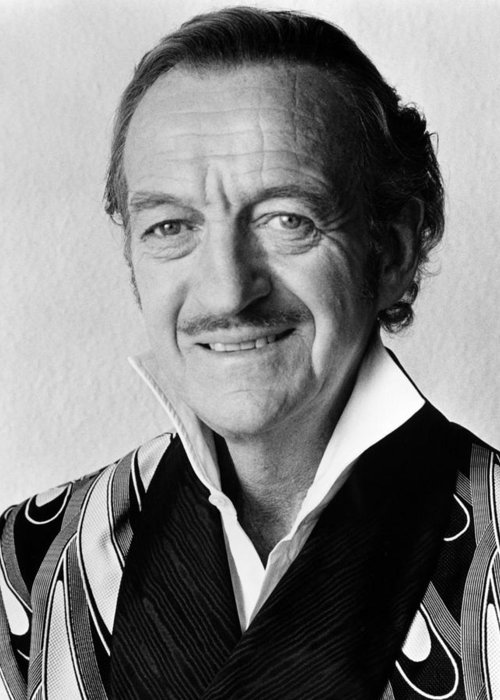 Trail Of The Pink Panther Greeting Card featuring the photograph David Niven In Trail Of The Pink Panther by Silver Screen