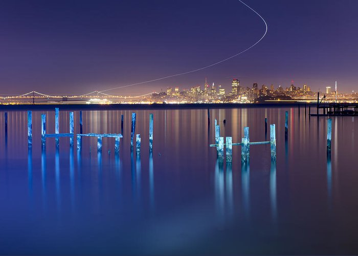 Dawn Colors - Sausalito Greeting Card featuring the photograph Dawn Colors - Sausalito by David Yu