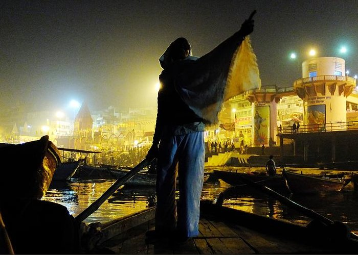 Ganges Greeting Card featuring the photograph Dawn On The Ganges by Greg Holden