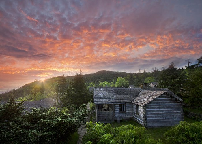 Appalachia Greeting Card featuring the photograph Dawn Over Leconte by Debra and Dave Vanderlaan