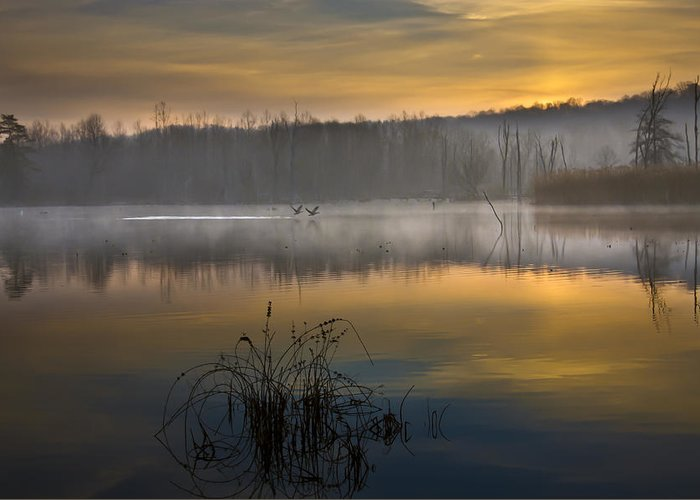 Cuyahoga Valley National Park Greeting Card featuring the photograph Dawns Light by Jeffrey Gibson