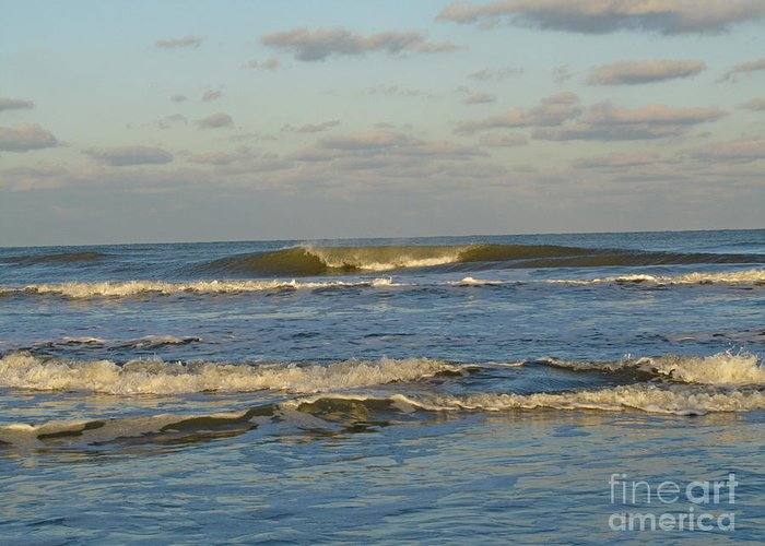 Ocean Greeting Card featuring the photograph Day At The Ocean by Donna Brown