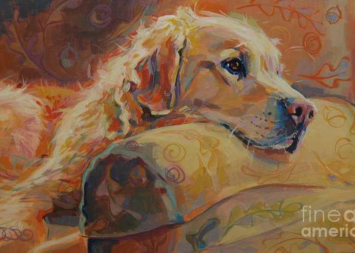 Canines Paintings Greeting Cards