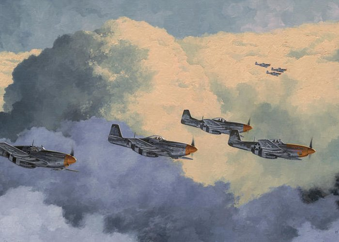 Aviation Art Greeting Card featuring the painting Daydreams Over Cambridgeshire by Wade Meyers