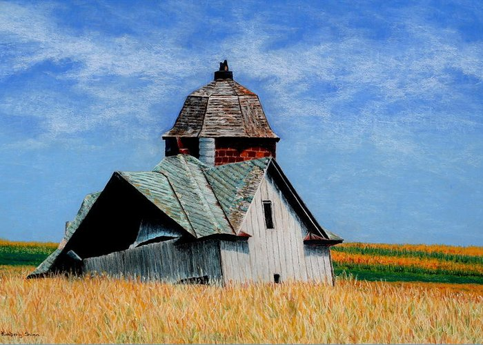 Old Barns Greeting Card featuring the painting Days Gone By by Kimberly Shinn