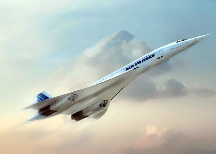 Concorde Greeting Card featuring the digital art Days Of Future Passed by Peter Chilelli