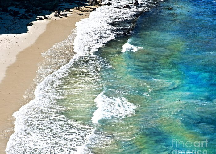 Ocean Waves Greeting Card featuring the photograph Days That Last Forever Waves That Go On In Time by Artist and Photographer Laura Wrede