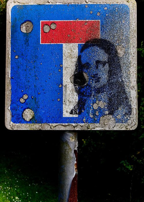 Stencil Greeting Card featuring the photograph Dead End Religion by David Howarth