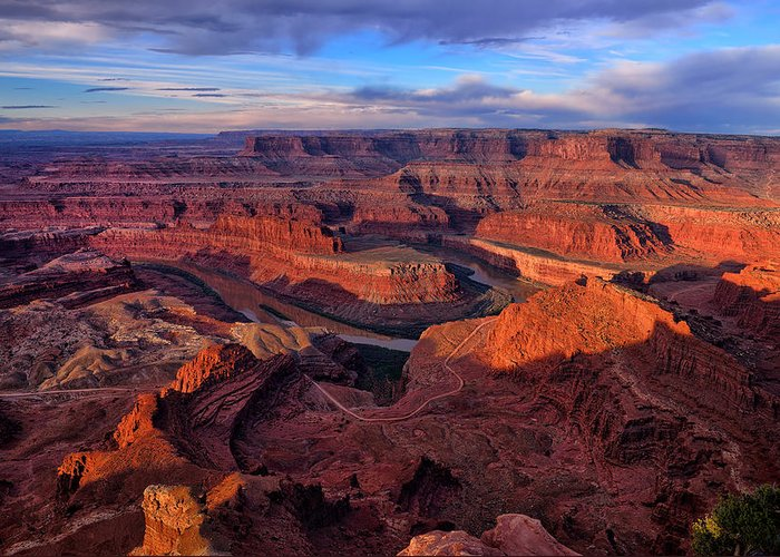 Dead Horse Point Greeting Card featuring the photograph Dead Horse Point Sunrise by Greg Norrell