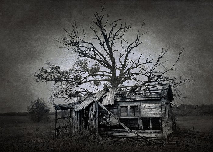 Abandoned Greeting Card featuring the photograph Dead Place by Svetlana Sewell
