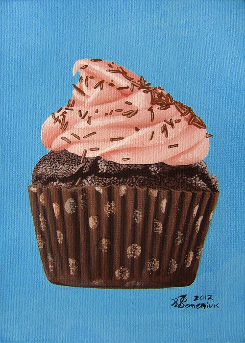 Chocolate Greeting Card featuring the painting Decadence by Kayleigh Semeniuk