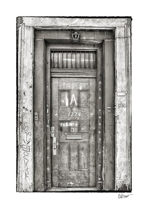 French Quarter Greeting Card featuring the photograph Decaying Beauty In Black And White by Brenda Bryant