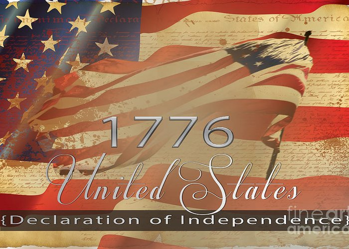 U.s. Declares Independence Greeting Card featuring the photograph Declaration Of Independence by Beverly Guilliams