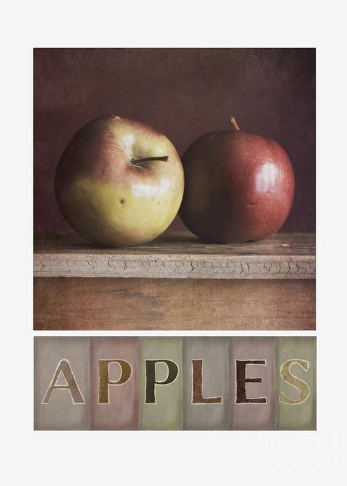 Apples Greeting Card featuring the photograph Deco Apples by Priska Wettstein