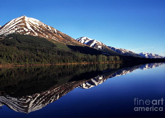 Alaska Greeting Card featuring the photograph Deep Blue Lake Alaska by Thomas R Fletcher