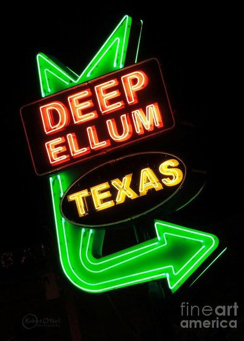 Deep Ellum Greeting Card featuring the photograph Deep Ellum by Robert ONeil