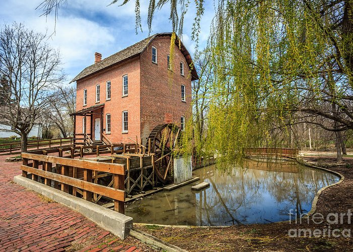 1800's Greeting Card featuring the photograph Deep River County Park Grist Mill by Paul Velgos