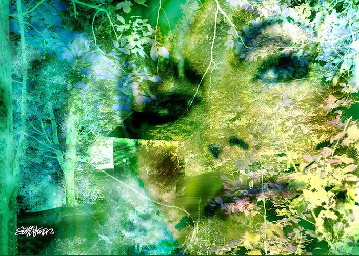 Deep Woods Wanderings Greeting Card featuring the digital art Deep Woods Wanderings by Seth Weaver