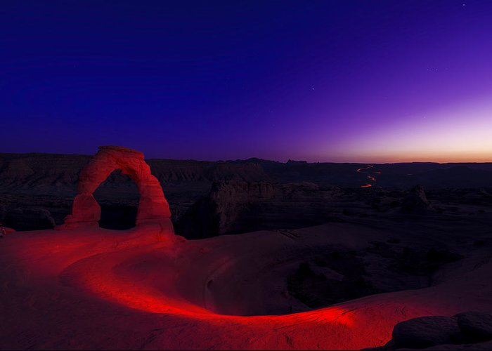 Utah Greeting Card featuring the photograph Delicate Twilight by Dustin LeFevre