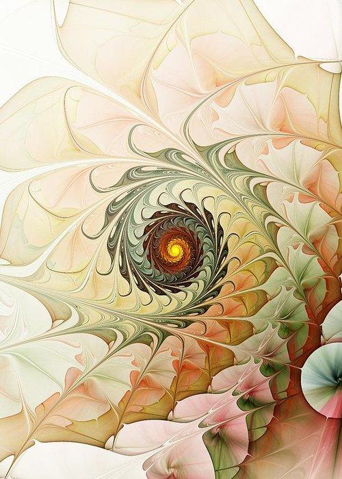 Malakhova Greeting Card featuring the digital art Delicate Wave by Anastasiya Malakhova