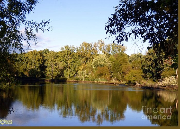 Waterscape Greeting Card featuring the photograph Delta Lake Reflections by Rennae Christman