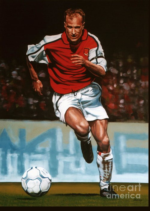 Dennis Bergkamp Greeting Card featuring the painting Dennis Bergkamp by Paul Meijering