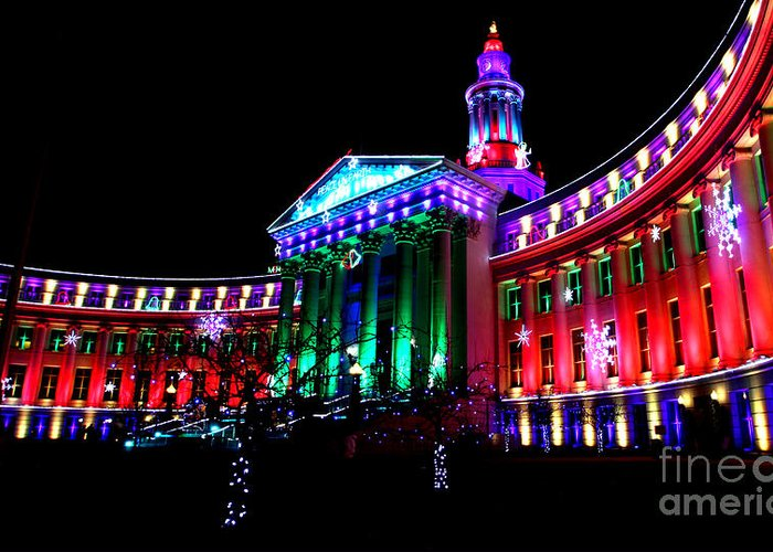 Denver Greeting Card featuring the photograph Denver County Building by Jennifer Mecca