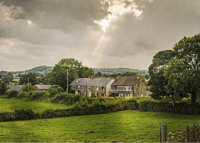 Cottage Greeting Card featuring the photograph Derbyshire Cottages by Amanda Elwell